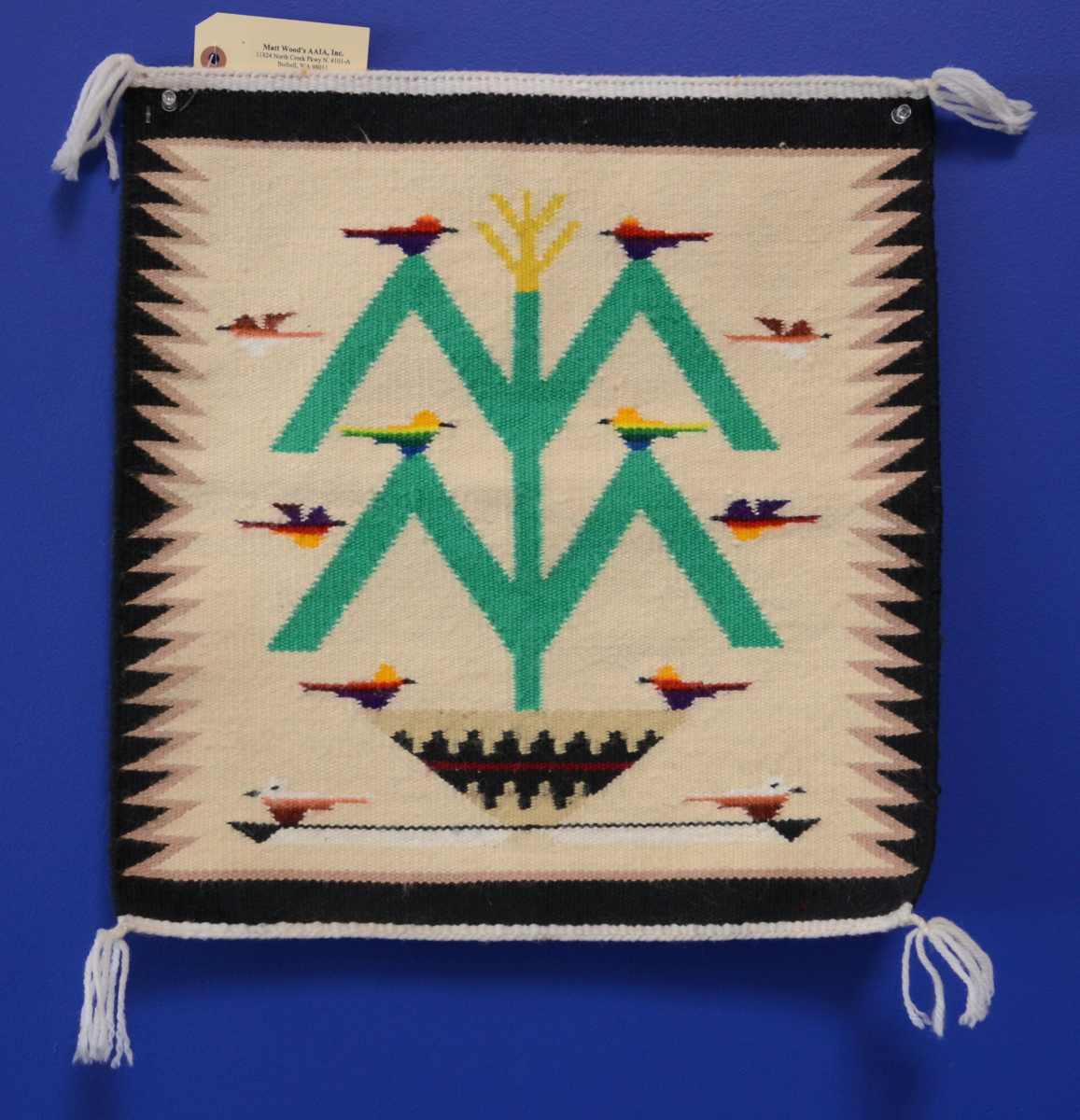 140520 11 Navajo Rug Tree Of Life Pictorial Weaving