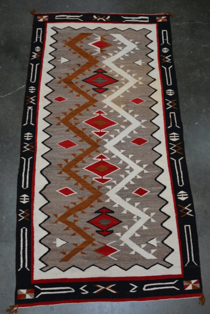 5095 03 Navajo Rug Early Teec Nos Pos Red Mesa