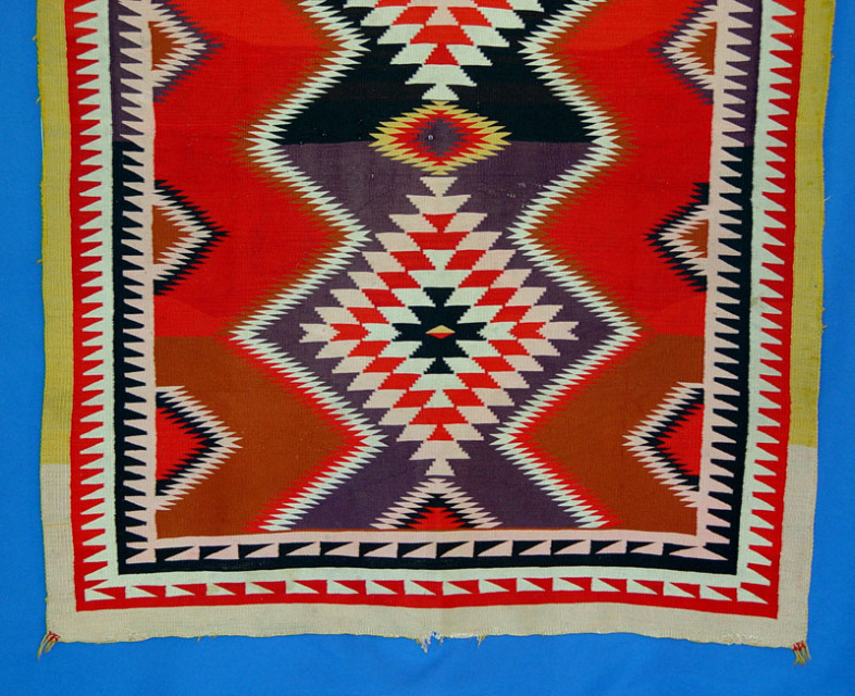 1298 03 Navajo Rug 50 Quot X65 Quot Colorful Germantown