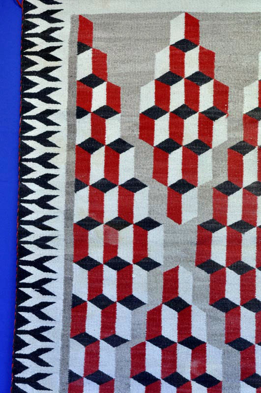 120426 14 Navajo 3d Optical Pattern Rug 1920 1930