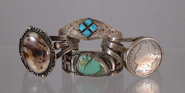 Fred Harvey Navajo Indian jewelry early antique old pawn