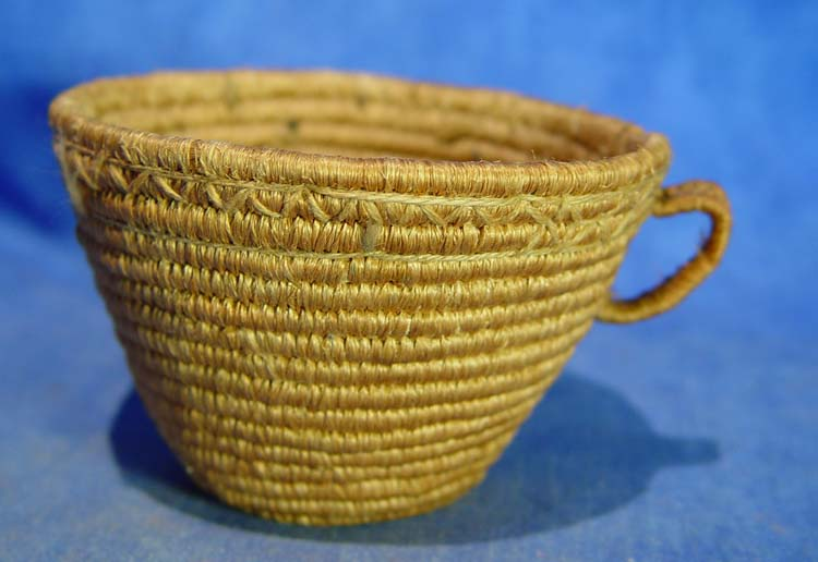 Eskimo and Athabaskan basketry tourist cup